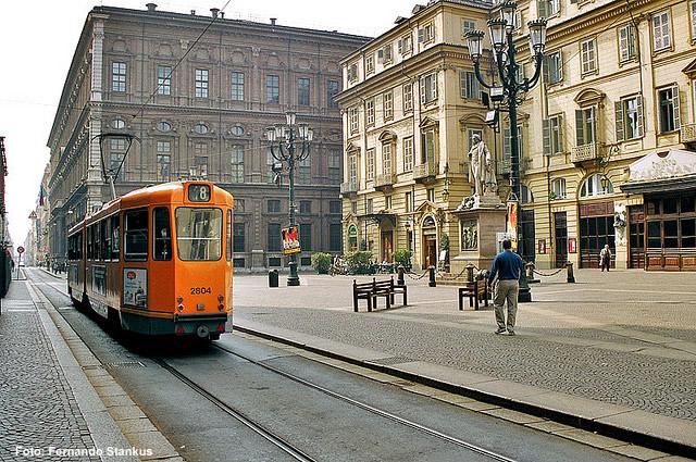Bonde em Torino, no Piemonte, foto de Chico Spagnuolo