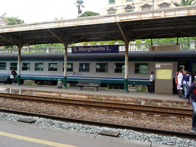 Estação ferroviária de Sta. Margherita Ligure, na Riviera Italiana