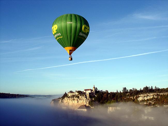 Balonismo em Rocamadour, França