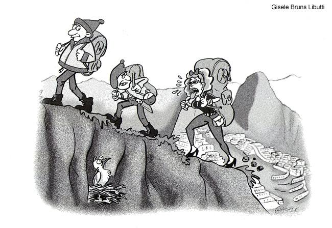 Cartoon Gisele Peru