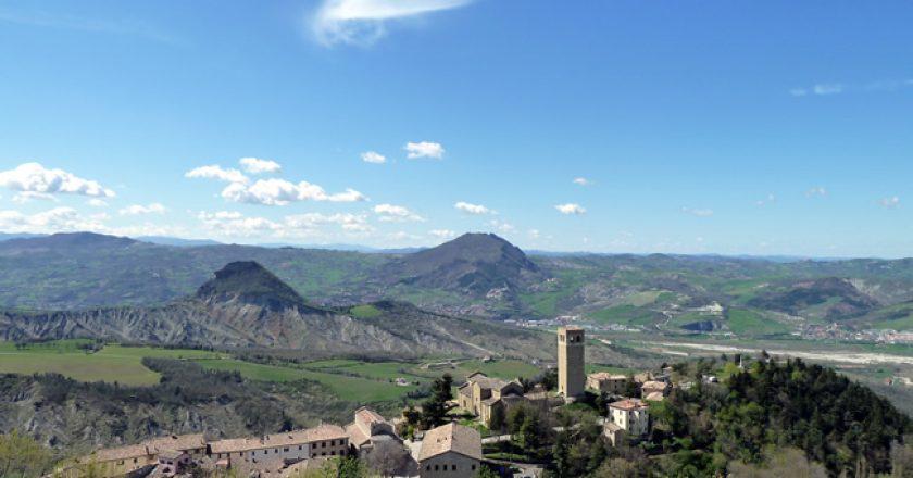 Panorâmica de San Leo, Itália