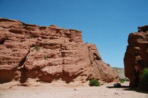 Formações rochosas na Quebrada de Cafayate, no Noroeste da Argentina