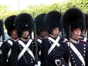 Dinamarca, Guarda Real em Kopenhage