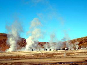 Gêiseres de El Tatio, no Altiplano chileno