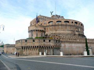 Lateral do Castel Sant'Angelo, em Roma