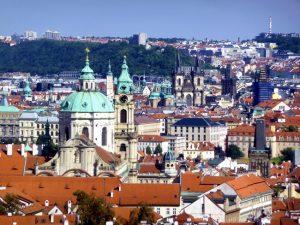 Cidade de Praga, vista do alto